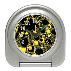 Special Fractal 04 Yellow Desk Alarm Clock by ImpressiveMoments