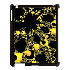 Special Fractal 04 Yellow Apple Ipad 3/4 Case (black) by ImpressiveMoments