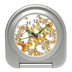 Special Fractal 04 Orange Desk Alarm Clock by ImpressiveMoments