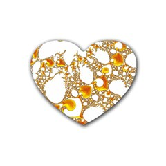Special Fractal 04 Orange Drink Coasters 4 Pack (heart)