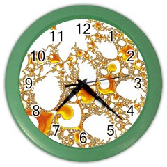 Special Fractal 04 Orange Wall Clock (color) by ImpressiveMoments