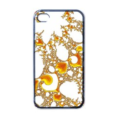 Special Fractal 04 Orange Apple Iphone 4 Case (black) by ImpressiveMoments