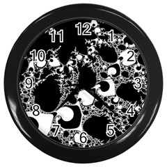 Special Fractal 04 B&w Wall Clock (black) by ImpressiveMoments