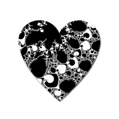 Special Fractal 04 B&w Magnet (heart) by ImpressiveMoments