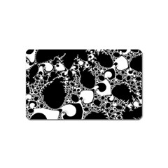 Special Fractal 04 B&w Magnet (name Card) by ImpressiveMoments