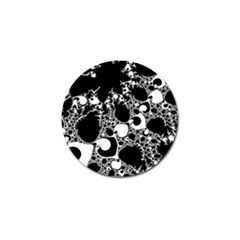 Special Fractal 04 B&w Golf Ball Marker 4 Pack by ImpressiveMoments
