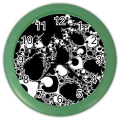 Special Fractal 04 B&w Wall Clock (color) by ImpressiveMoments
