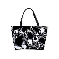 Special Fractal 04 B&w Large Shoulder Bag by ImpressiveMoments