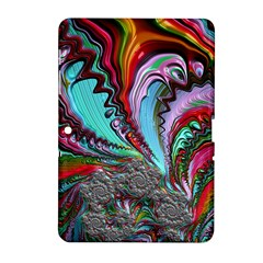 Special Fractal 02 Red Samsung Galaxy Tab 2 (10 1 ) P5100 Hardshell Case  by ImpressiveMoments