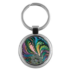 Special Fractal 02 Purple Key Chain (round)