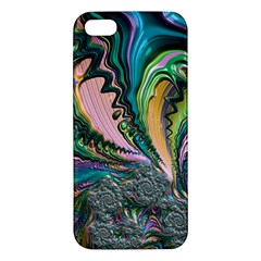 Special Fractal 02 Purple Apple Iphone 5 Premium Hardshell Case by ImpressiveMoments