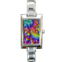 Radiant Sunday Neon Rectangular Italian Charm Watch by ImpressiveMoments