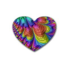 Radiant Sunday Neon Drink Coasters 4 Pack (heart)  by ImpressiveMoments