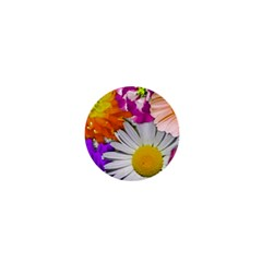 Lovely Flowers,purple 1  Mini Button Magnet by ImpressiveMoments