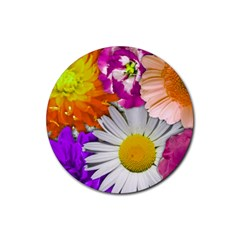 Lovely Flowers,purple Drink Coaster (round) by ImpressiveMoments