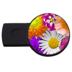 Lovely Flowers,purple 2gb Usb Flash Drive (round) by ImpressiveMoments