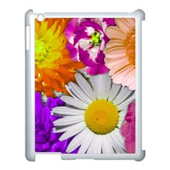 Lovely Flowers,purple Apple Ipad 3/4 Case (white) by ImpressiveMoments