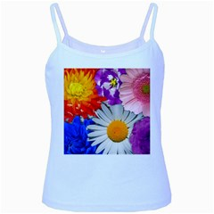 Lovely Flowers, Blue Baby Blue Spaghetti Tank by ImpressiveMoments