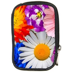Lovely Flowers, Blue Compact Camera Leather Case by ImpressiveMoments