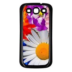 Lovely Flowers, Blue Samsung Galaxy S3 Back Case (black) by ImpressiveMoments