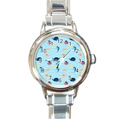 Fun Fish Of The Ocean Round Italian Charm Watch by StuffOrSomething