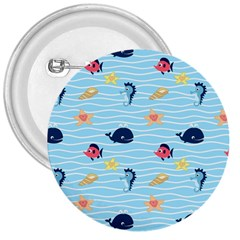 Fun Fish Of The Ocean 3  Button by StuffOrSomething