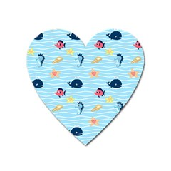 Fun Fish Of The Ocean Magnet (heart) by StuffOrSomething