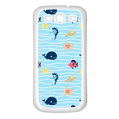 Fun Fish Of The Ocean Samsung Galaxy S3 Back Case (white)