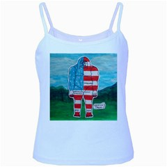 Painted Flag Big Foot Aust Baby Blue Spaghetti Tank by creationtruth