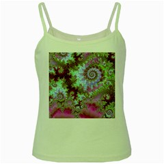 Raspberry Lime Delight, Abstract Ferris Wheel Green Spaghetti Tank by DianeClancy
