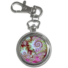 Raspberry Lime Delight, Abstract Ferris Wheel Key Chain Watch