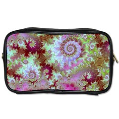 Raspberry Lime Delight, Abstract Ferris Wheel Toiletries Bag (one Side) by DianeClancy