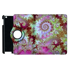Raspberry Lime Delight, Abstract Ferris Wheel Apple Ipad 2 Flip 360 Case by DianeClancy