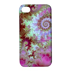 Raspberry Lime Delight, Abstract Ferris Wheel Apple Iphone 4/4s Hardshell Case With Stand by DianeClancy