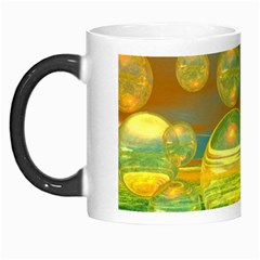 Golden Days, Abstract Yellow Azure Tranquility Morph Mug by DianeClancy