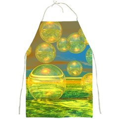 Golden Days, Abstract Yellow Azure Tranquility Apron by DianeClancy