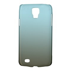 Blue Gold Gradient Samsung Galaxy S4 Active (i9295) Hardshell Case by zenandchic