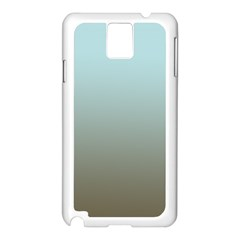 Blue Gold Gradient Samsung Galaxy Note 3 N9005 Case (white) by zenandchic