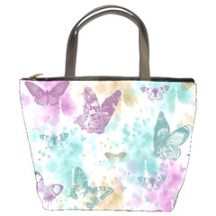 Joy Butterflies Bucket Handbag by zenandchic