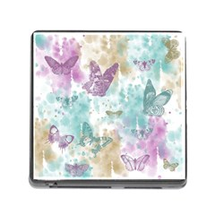Joy Butterflies Memory Card Reader With Storage (square) by zenandchic