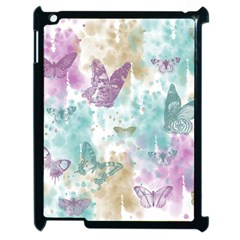 Joy Butterflies Apple Ipad 2 Case (black) by zenandchic