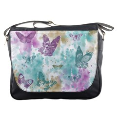 Joy Butterflies Messenger Bag by zenandchic