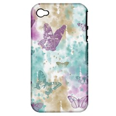 Joy Butterflies Apple Iphone 4/4s Hardshell Case (pc+silicone) by zenandchic