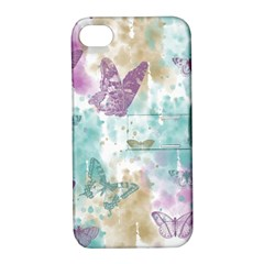 Joy Butterflies Apple Iphone 4/4s Hardshell Case With Stand by zenandchic