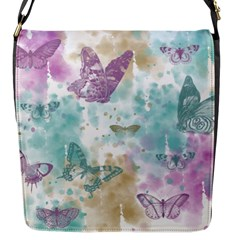 Joy Butterflies Flap Closure Messenger Bag (small) by zenandchic
