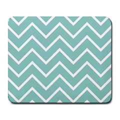 Blue And White Chevron Large Mouse Pad (rectangle)