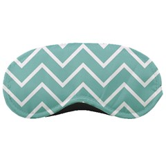 Blue And White Chevron Sleeping Mask by zenandchic