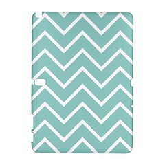 Blue And White Chevron Samsung Galaxy Note 10 1 (p600) Hardshell Case by zenandchic