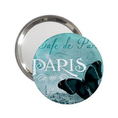 Paris Butterfly Handbag Mirror (2 25 ) by zenandchic