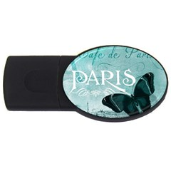 Paris Butterfly 4gb Usb Flash Drive (oval) by zenandchic
